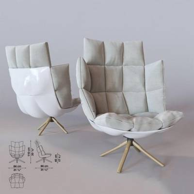 现代休闲椅3D模型下载【ID:219460449】
