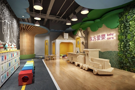 幼儿园前台接待3D模型【ID:128225023】