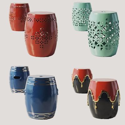 中式陶瓷鼓凳3D模型【ID:428269333】