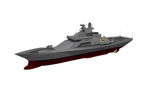 近海巡逻船(海雕类)SU模型【ID:839728503】
