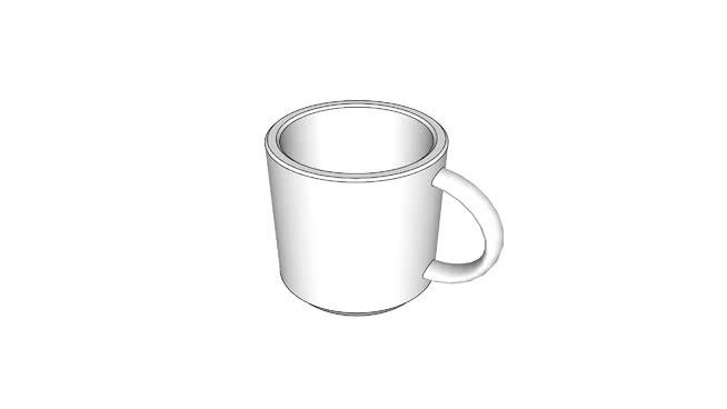演示用咖啡杯SU模型【ID:839728310】
