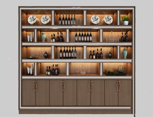 酒柜3D模型【ID:920021050】