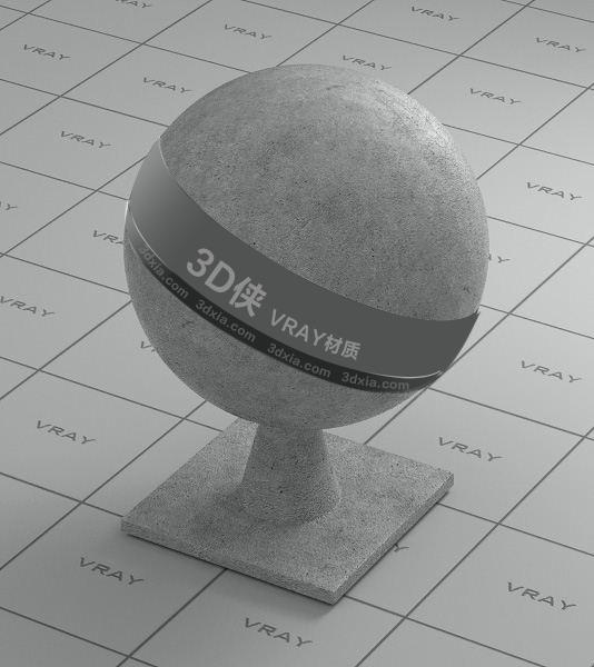 灰色混泥土Vray材質【ID:736441727】