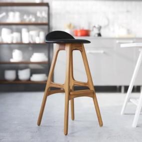 北欧风吧台椅3D模型【ID:327894169】