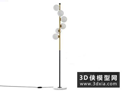 现代落地灯国外3D模型【ID:929403073】