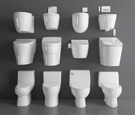 馬桶組合3D模型【ID:128221783】