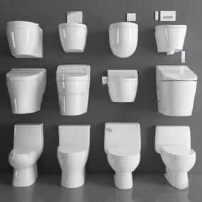 马桶组合3D模型【ID:128221783】