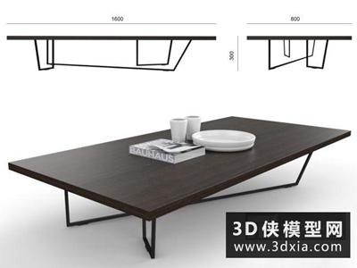 現代茶幾國外3D模型【ID:829656127】