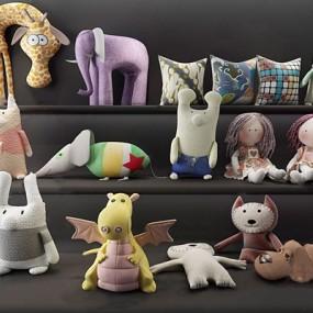 毛绒玩具公仔卡通玩具布娃娃3D模型【ID:528288259】