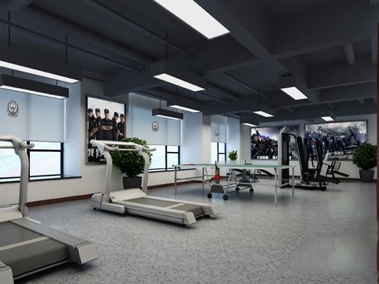 现代健身房3D模型【ID:320604665】