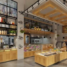 现代面包店3D模型【ID:124896815】