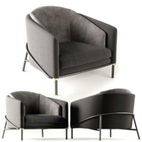 现代布艺单人沙发3D模型【ID:927823693】