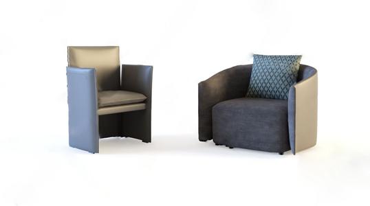 现代单人沙发3D模型【ID:920804658】