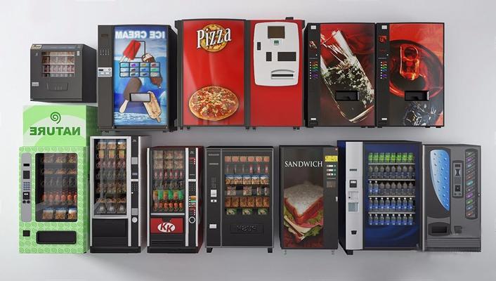 自助售货机饮料机3D模型【ID:428184043】