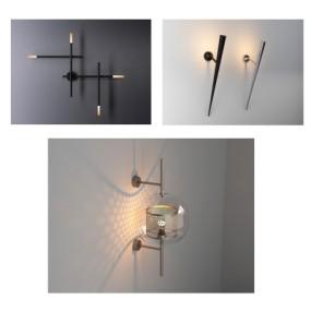 现代时尚壁灯组合3D模型【ID:528454974】