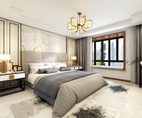 新中式卧室3D模型【ID:927828539】