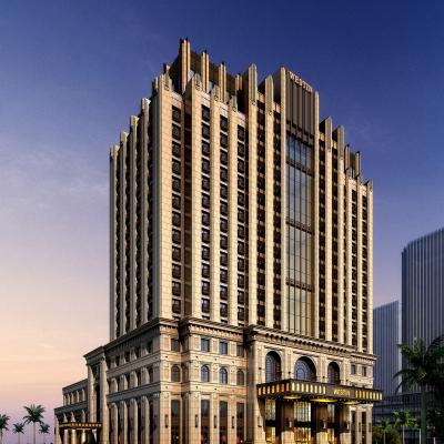 现代酒店建筑外观3D模型【ID:127767442】