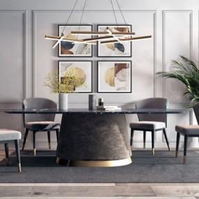 代轻奢餐桌椅吊灯组合3D快三追号倍投计划表【ID:834830816】