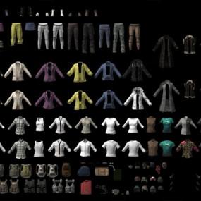 现代衣服3D模型【ID:626227082】