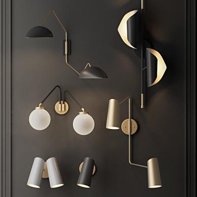 現代壁燈3D模型【ID:528454953】