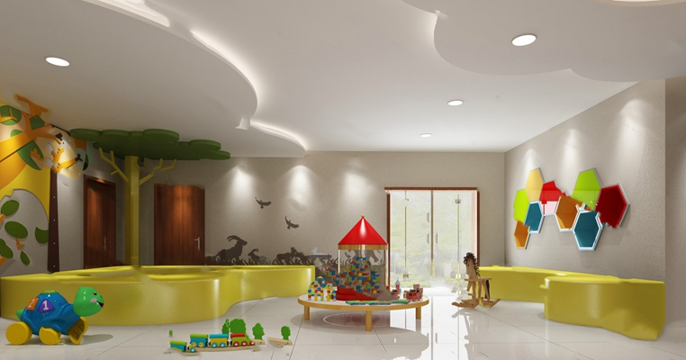 现代幼儿园3D模型【ID:120601894】