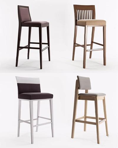 意大利MontBel-Srl-Barstools吧椅組合3D模型【ID:327923123】