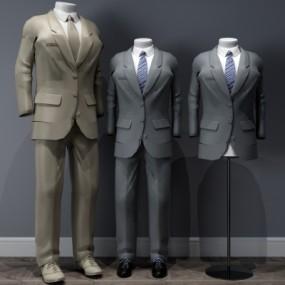 现代男士服装模特3D模型【ID:528453115】