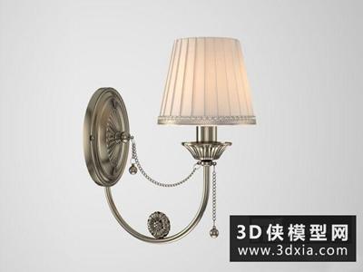 歐式壁燈國外3D模型【ID:829410898】