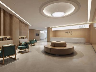 現代醫院接待廳3D模型【ID:932422781】