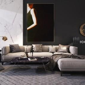 现代组合沙发3D模型【ID:131428035】