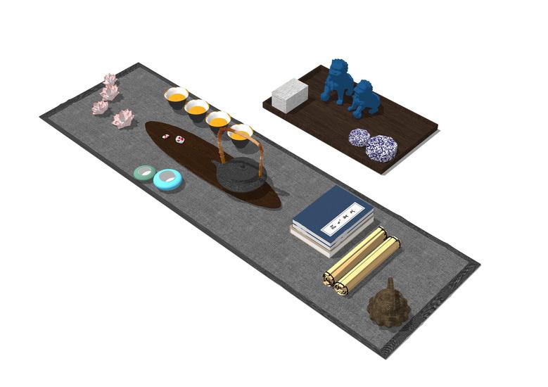 茶具SU模型【ID:936381472】
