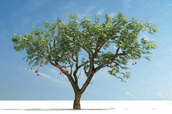现代树3D模型【ID:320612647】