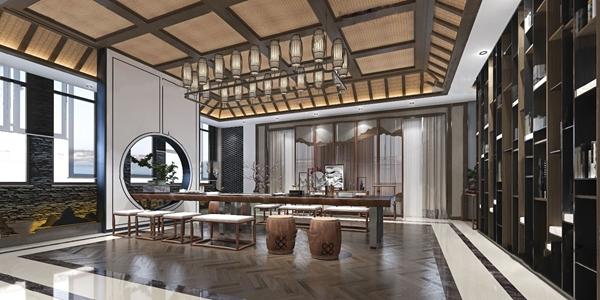 新中式茶室3D模型【ID:547087996】