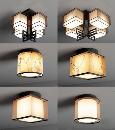 新中式灯具3D模型【ID:628047008】