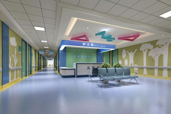 儿童医院护士站3D模型【ID:928209635】