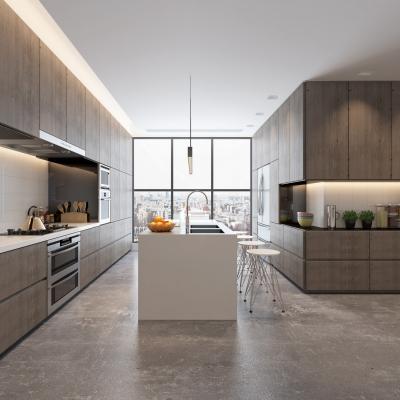 现代厨房中岛柜3D模型【ID:128400412】