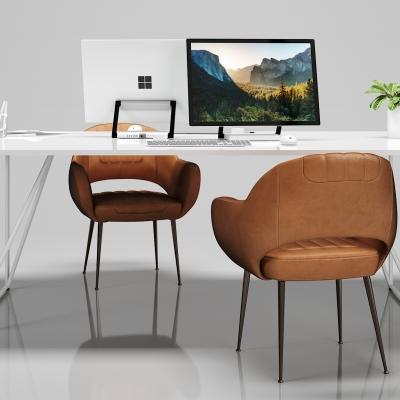現代簡約辦公桌椅組合3D模型【ID:628458645】