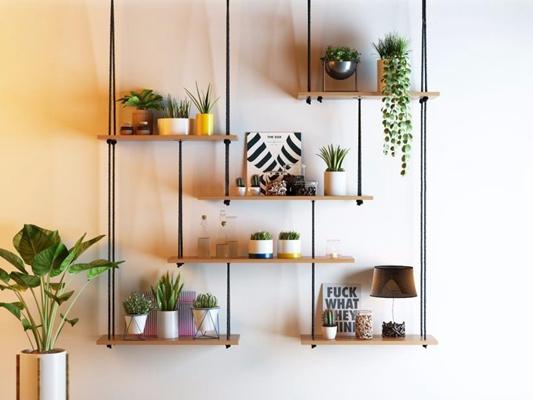 植物盆栽吊柜組合3D模型【ID:327902811】