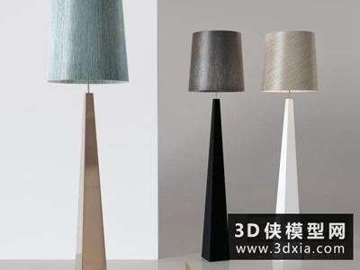 現代落地燈國外3D模型【ID:929450061】