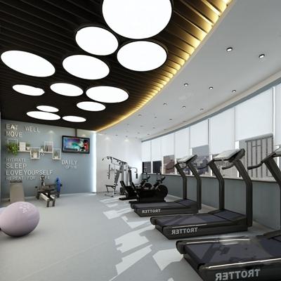 现代健身房3D模型【ID:620612028】