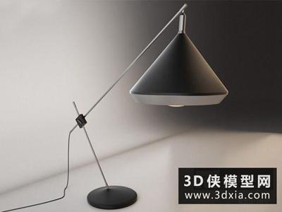 现代台灯国外3D模型【ID:829653991】