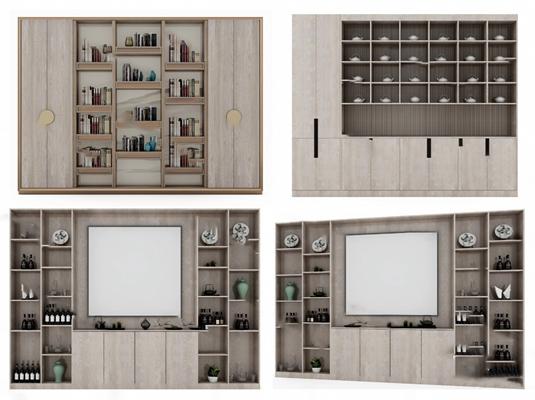 书柜3D模型【ID:920602572】