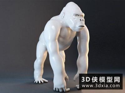 猩猩装饰摆设国外3D模型【ID:929623759】
