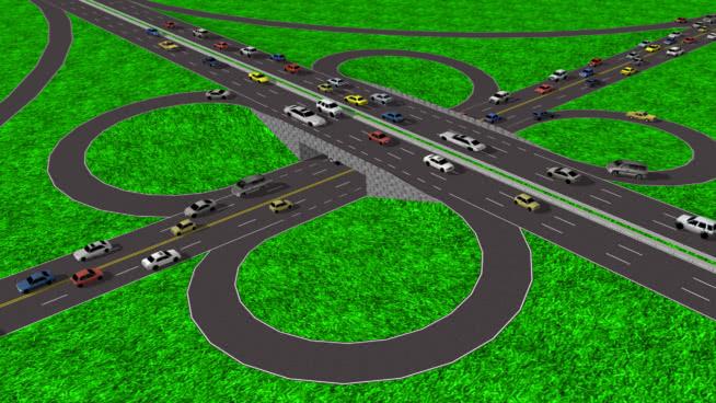 道路與交通車(高速公路)罕見的嘗試SU模型【ID:437897921】