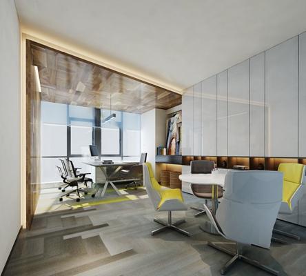 现代办公室3D模型【ID:124885808】