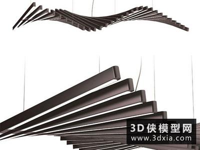 現代吊燈國外3D模型【ID:829565770】