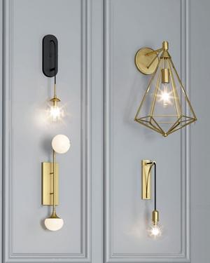 現代壁燈3D模型【ID:734507946】