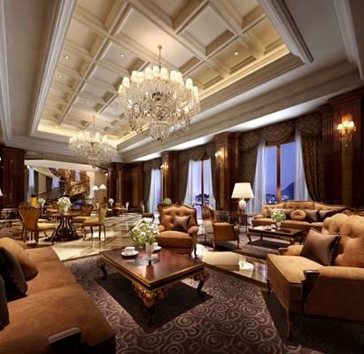 欧式古典酒店会所3D模型【ID:514935159】