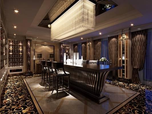 欧式新古典酒店会所3D模型【ID:514939152】