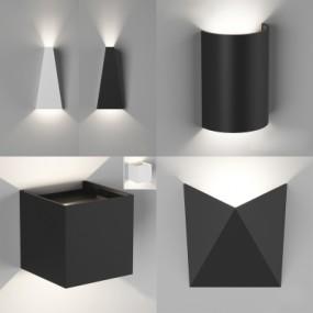 现代金属壁灯组合3D模型【ID:527802904】